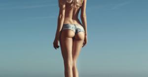裸にジーンズのペイントをしたら、周囲は気づくか?【実験動画】