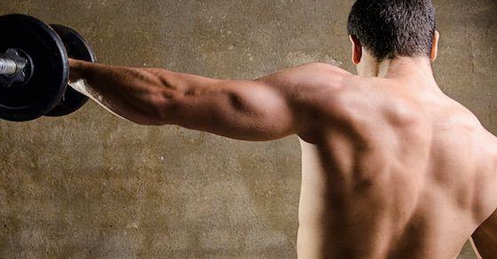 背中の広背筋を鍛えて体を大きくしよう!