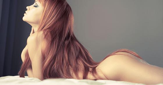 背中が性感帯の女性とのローションプレイ