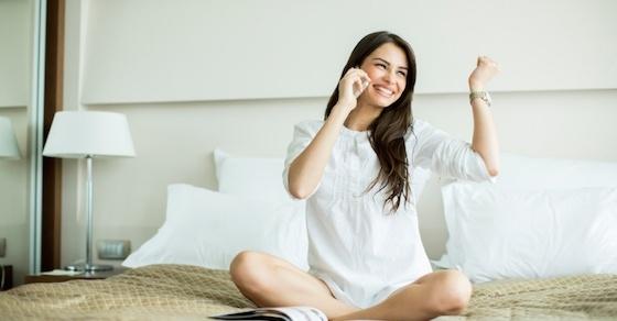 寝る前に、女のアソコを少しだけうずかせる、LINEの一言