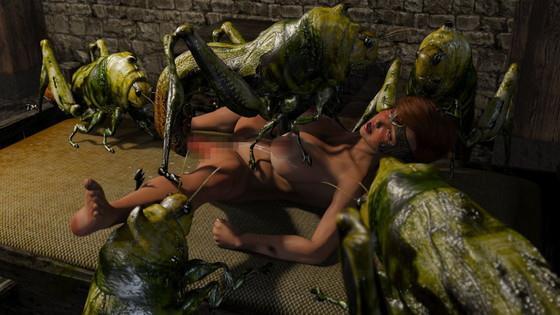「蟲狩り騎士サキ蟲姦攻め淫虫地獄FANZA版」